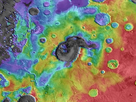 Researchers think they've spotted huge volcanic calderas on Mars | Geology | Scoop.it