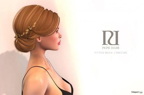 Grecian Dark Brunettes Hair Gift by PEPE Hair | Teleport Hub - Second Life Freebies | Second Life Freebies | Scoop.it
