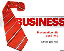 Red Tie Business PowerPoint Template | Free Powerpoint Templates | Excel_tips | Scoop.it