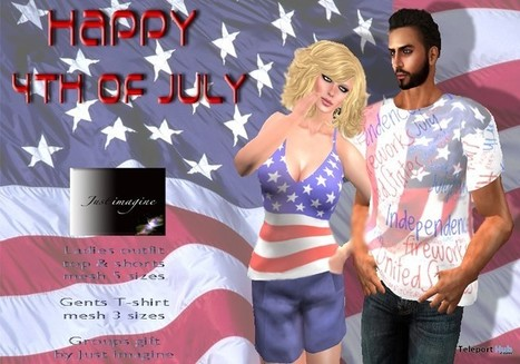July 4th Ladies Outfit & Gents Shirt July 2015 Group Gift by Just Imagine | Teleport Hub - Second Life Freebies | Second Life Freebies | Scoop.it