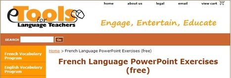 eTools for Language Teachers - Free French Language PowerPoint Exercises | Mes coups de cœur FLE | Scoop.it