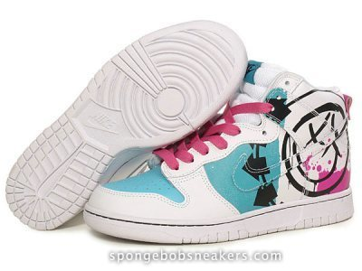 Blink 182 Nike Dunk Sneakers Smiley Face Logo 5 Arrows | Custom Cartoon Dunks | Scoop.it