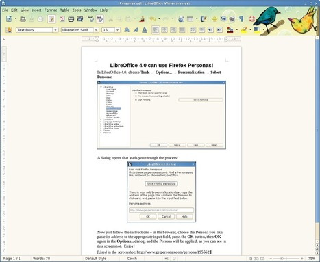 LibreOffice 4.0: Use Firefox Personas in your favorite office suite | TDF & LibreOffice | Scoop.it