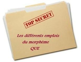 Les différents emplois du morphème QUE | Remue-méninges FLE | Scoop.it