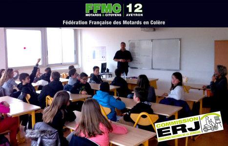 Intervention ERJ au collège de Villefranche de Rouergue | Formations auprès des jeunes ERJ et stage moto AFDM | Scoop.it