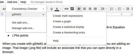 Create graphs and complex math equations directly from the Google Docs sidebar with g(Math) | EdTech Innovations | Scoop.it