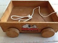 Vintage Wooden Snoopy Cart For Wooden Blocks | Wooden Home Decoration | Scoop.it