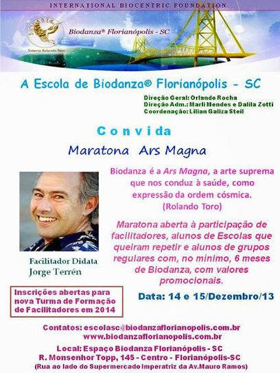 Brasil - Espaço Biodanza Florianópolis - SC - Marli Mendes: Maratona de ... | BIO DANZA | Scoop.it