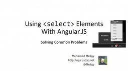 Solving Initial Selection Problem In Angular.JS Select — ng-options with track by - CodeProject | javascript node.js | Scoop.it