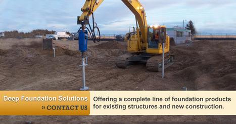 Commercial Foundation Repair   Industrial Foundation Repair Contractors from Foundation Supportworks   screw piles   Scoop.it