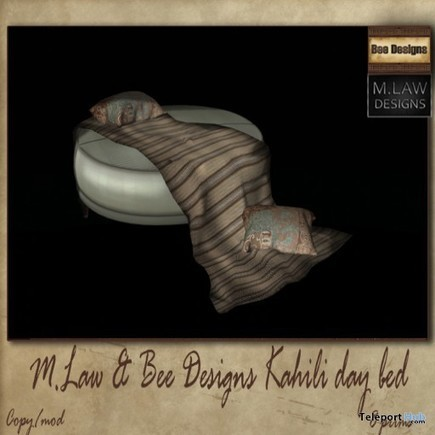 Kahili Day Bed Round 2 July 2015 Group Gift at Cosmopolitan BiWeekly Event by Bee & M.LAW Designs | Teleport Hub - Second Life Freebies | Second Life Freebies | Scoop.it