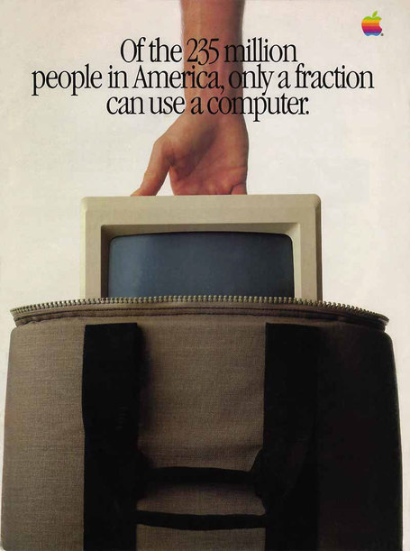 """Introducing Macintosh"" ad insert in Newsweek, 1984 
