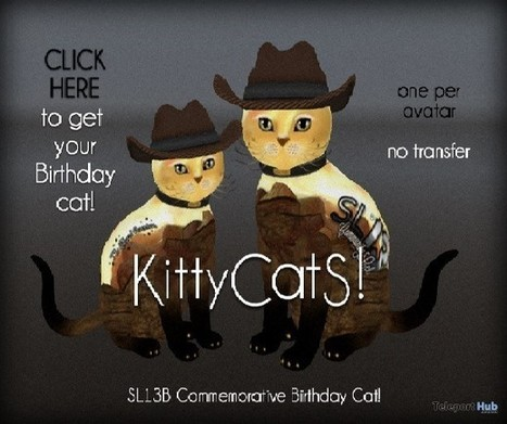 SL13B Commemorative Birthday Cat Gift by KittyCatS | Teleport Hub - Second Life Freebies | Second Life Freebies | Scoop.it
