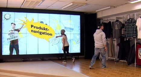 Un très grand mur digital dans ce magasin de l'enseigne autrichienne Rag | La Minute Retail | Les innovations retail | Scoop.it