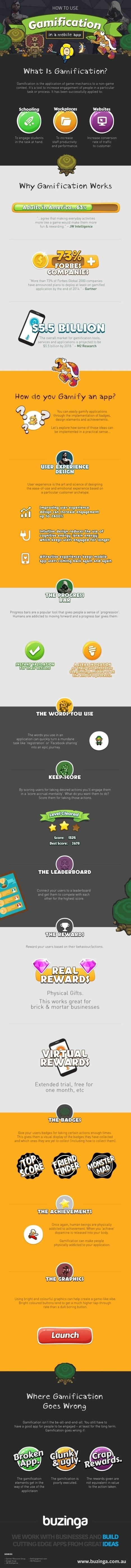 Cómo usar la gamificación en Apps móviles #infografia #infographic #software | gestion de personas y social media | Scoop.it