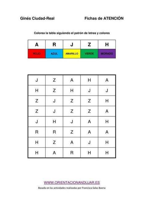 Colección de actividades de atención y estimulación cognitiva, Con plantilla editable - Orientacion Andujar | Mathink | Scoop.it