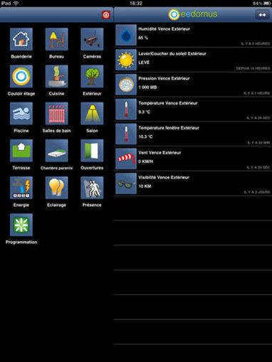 L'application eedomus devient compatible iPad | Hightech, domotique, robotique et objets connectés sur le Net | Scoop.it