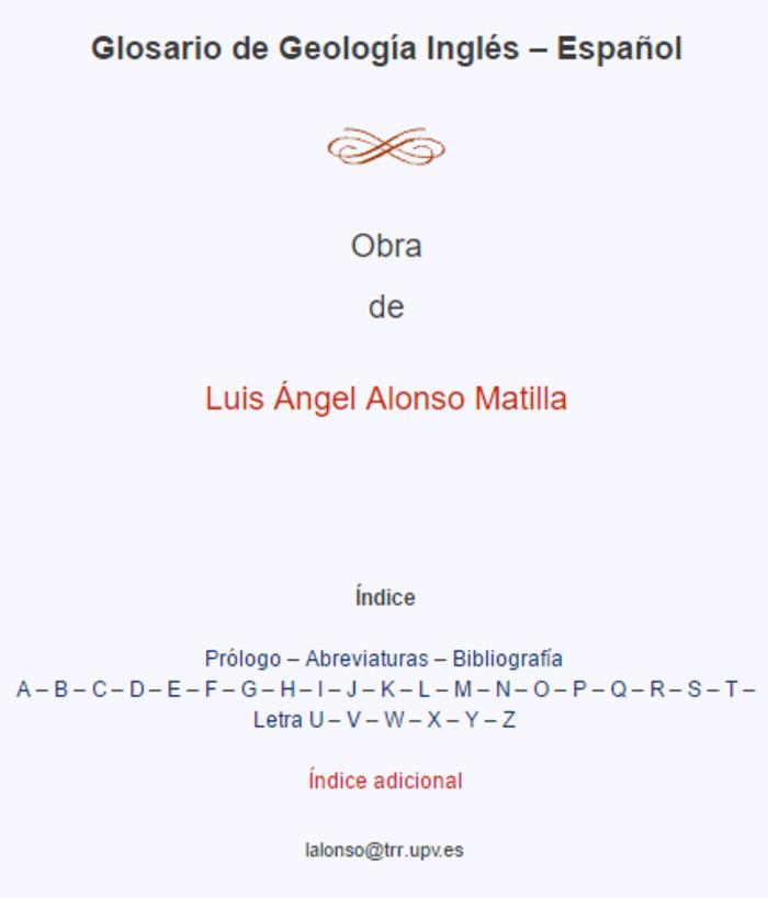 (ES) (EN) (PDF) - Glosario de Geología | Luis Ángel Alonso Matilla | Glossarissimo! | Scoop.it