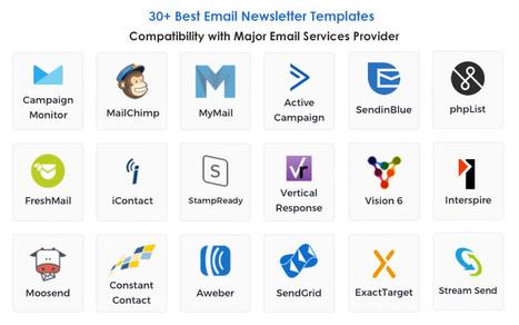 30 Email Newsletter Templates + E-mail Builder Modules | Création de sites internet - Référencement Dijon | Scoop.it