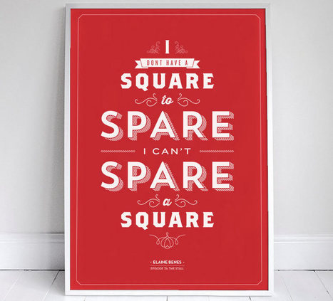 Ten Seinfeld Quote Posters in Stunning Typography - The Checkout presented by Ben's Bargains | Design Goodness | Scoop.it