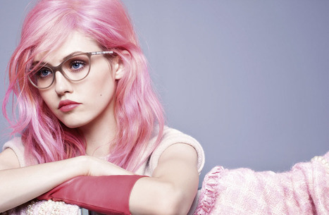 Charlotte Free Poses for Chanel Eyewear Campaign in Her Signature Pink Strands | World of Fashion!! | Scoop.it