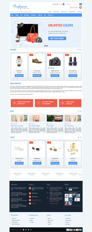 Parfijure, OpenCart Responsive E-Commerce Shopping Theme | Premium Download | Premium Opencart Themes | Scoop.it
