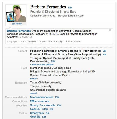 Linkedin for Speech-Language Pathologists | GeekSLP: Your source ... | Speech-Language Pathology | Scoop.it
