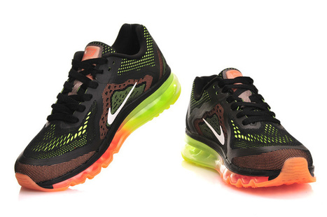 Cheap Nike Air Max 2014 Black Orange Fluorescent Green for Sale | Nike Basketball Shoes New Release | Scoop.it