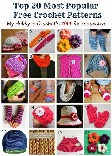 My Hobby Is Crochet: Top 20 Most Popular Free Crochet Patterns| My Hobby is Crochet's 2014 Retrospective | Free crochet patterns and tutorials | Scoop.it