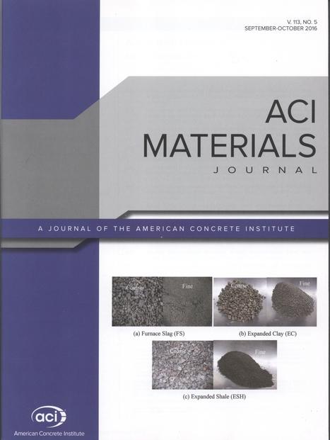 ACI Materials Journal, vol. 113, nº 5 (2016)   Ingeniería Civil   Scoop.it