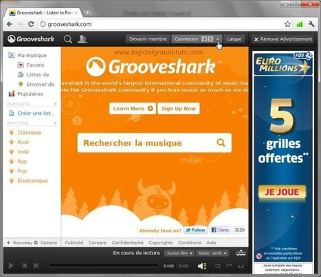 Tutoriel GrooveShark | formation 2.0 | Scoop.it