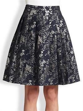 Women's Fashion Clothing : Pleated Jacquard Skirt   Women Fashion Clothing   Set That   Scoop.it