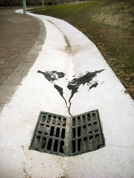 20+ Powerful Street Art Pieces That Tell The Uncomfortable Truth | Climate change and the arts | Scoop.it