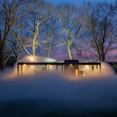 Fujiko Nakaya hides Philip Johnson's Glass House in vaporous fog | Architecture and Architectural Jobs | Scoop.it