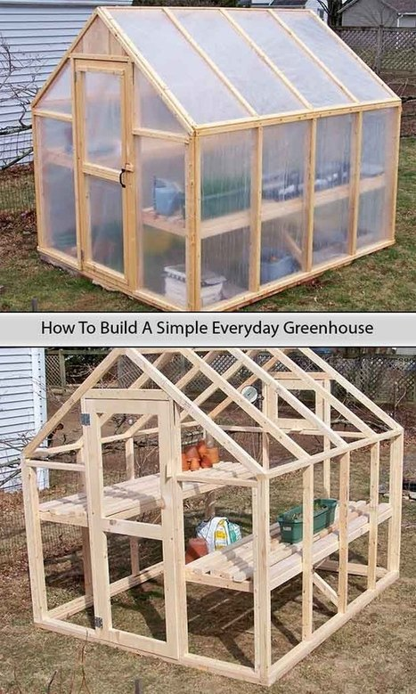 How To Build A Simple Everyday Greenhouse - LivingGreenAndFrugally.com | DIY Homestead | Scoop.it