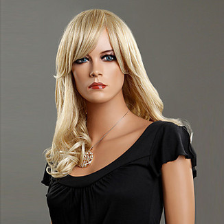 100% Japanese Kanekalon Synthetic Ash Blonde Middle-length Curly Wig – WigSuperDeal.com | Party Wigs | Scoop.it
