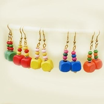 Five Set Wooden Earrings - Craftsia - Indian Handmade Products & Gifts | Indian Handmade Jewelry | Scoop.it