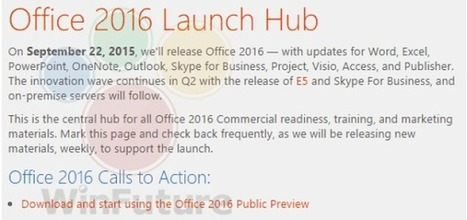 Office 2016 pour Windows lancé le 22 septembre ? | Formation 3.0 | Scoop.it
