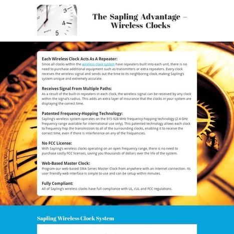 The Sapling Advantage – Wireless Clocks   Technology   Scoop.it
