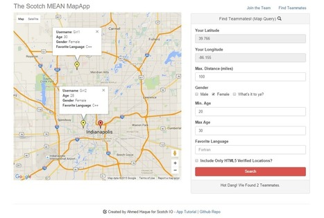 Making MEAN Apps with Google Maps (Part II) | JavaScript for Line of Business Applications | Scoop.it