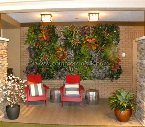 Artificial deciduous trees home improvement a for Vertical wall garden kits