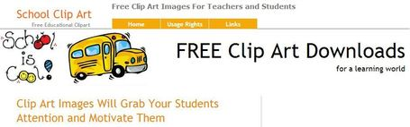 School Clip Art for Teachers and Kids - Free Clipart for Educational Purposes | Educatief Internet | Scoop.it