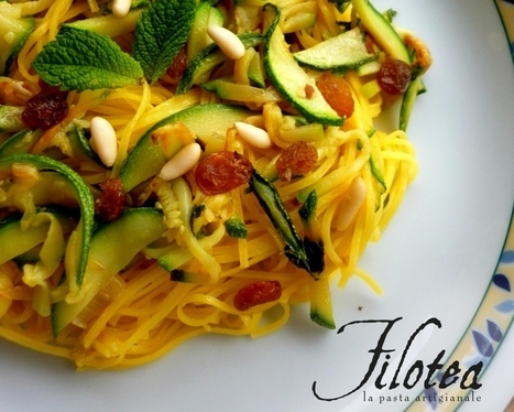 Tagliolini with round Zucchini and Mint | Le Marche and Food | Scoop.it