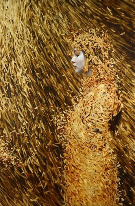 Leaf Paintings by Brad Kunkle | Arts graphiques | Scoop.it