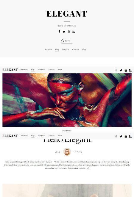 Elegant – Blog Minimal Typography Focused Theme   Premium iThemes   Themes & Templates   Scoop.it