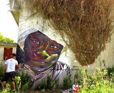 Hopare New Mural - Limours, France (Part II) | Culture and Fun - Art | Scoop.it