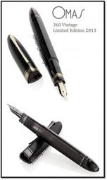 2013 OMAS 360 Vintage Limited Edition Fountain Pen in Transparent Smoke | Writing instruments | Scoop.it