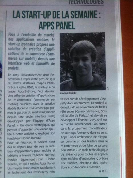 [ Vu dans Tout Lyon Affiches ] La start-up de la semaine : Apps Panel | Actu de l'écosystème d'Axeleo | Scoop.it