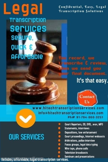 Why to Outsource Legal Transcription Work in India? | Transcribers-India | Scoop.it