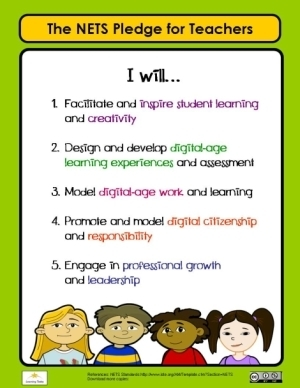 Free National Educational Technology Standards Poster for Teachers and other free tools   The 21st Century   Scoop.it